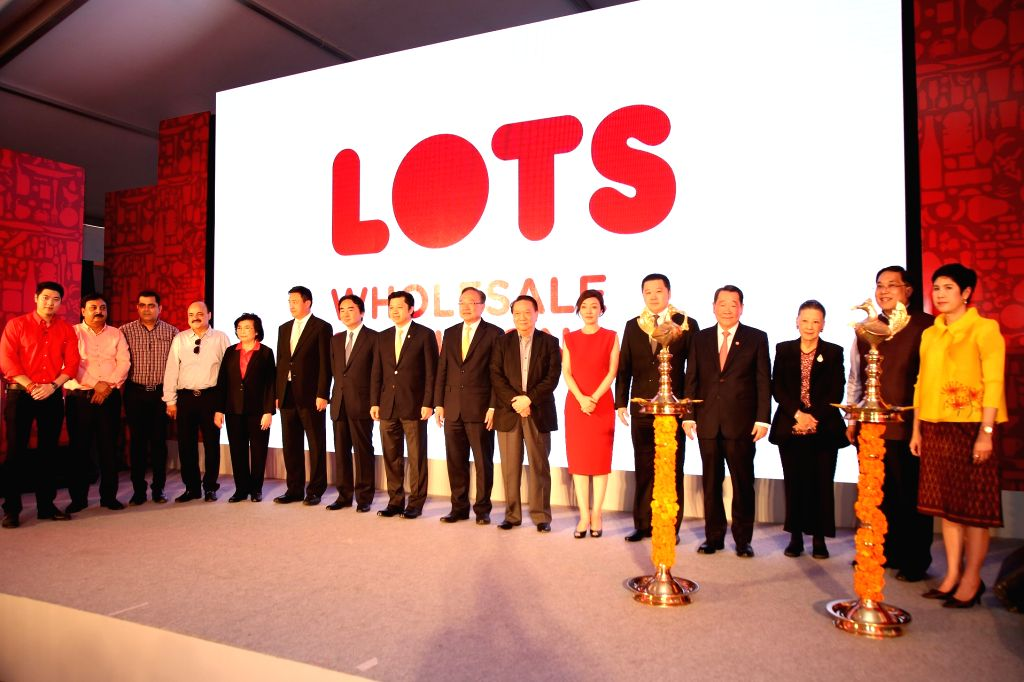 LOTS Wholesale Solutions Managing Director Tanit Chearavanont, Charoen Pokphand (CP) Group Senior Chairman Dhanin Chearavanont, CP Group Chairman Soopakij Chearavanont, Thailand's ...