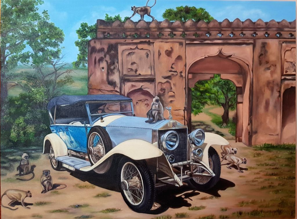 Love for automobiles and art