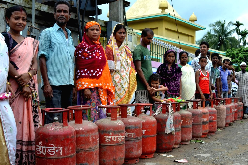 LPG cylinder. (File Photo: IANS)