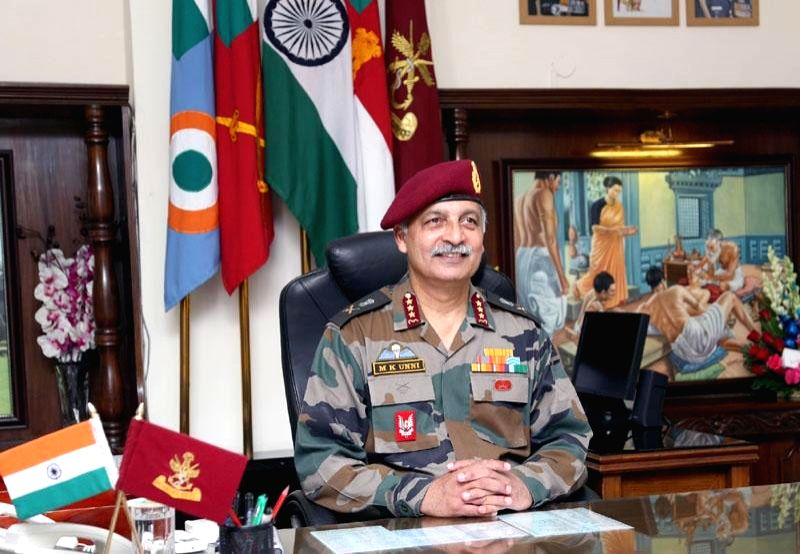 Lt. Gen. Manoj Kumar Unni assumes charge of the office of Director General Armed Forces Medical Services, in New Delhi on July 1, 2016. - Manoj Kumar Unni