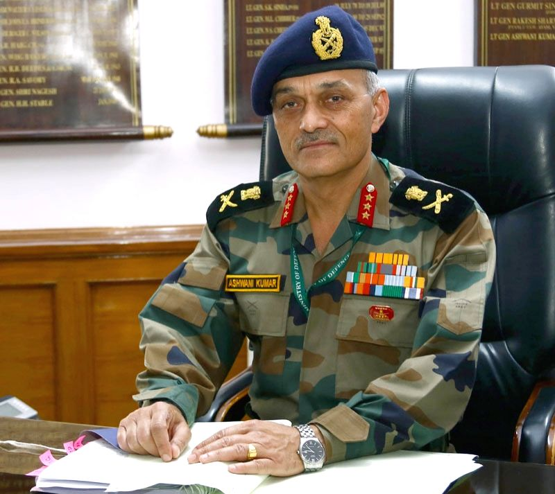 Lt. General Ashwani Kumar takes charge as Adjutant General in New Delhi on July 7, 2017. - Ashwani Kumar
