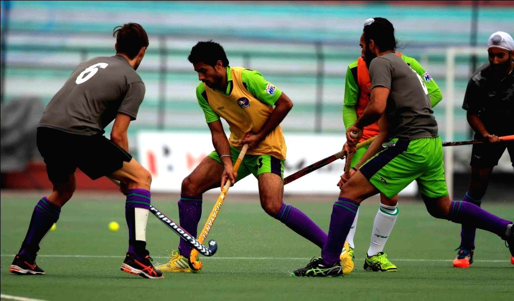 Delhi Waveriders in action during a practice session Lucknow on Jan 22, 2015.