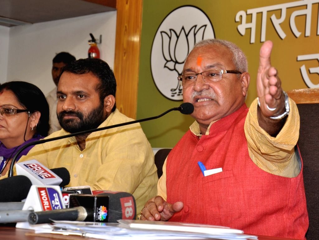 Lucknow: UP BJP chief Laxmikant Bajpai in in Lucknow, on March 31, 2016. (Photo: IANS) - Laxmikant Bajpai