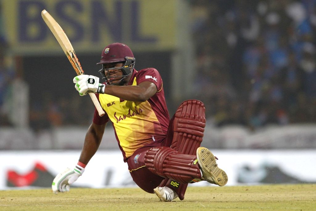 Lucknow: West Indies's Oshane Thomas during the second T20 International match between Indian and West Indies at the Bharat Ratan Atal Bihari Vajpayee International Cricket Stadium in Lucknow, on Nov 6, 2018. (Photo: Surjeet Yadav/IANS) - Surjeet Yadav