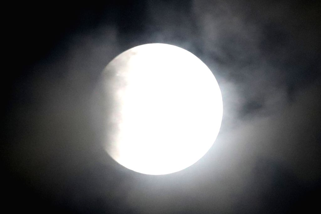 Lunar eclipse as seen from Bengaluru on July 28, 2018.