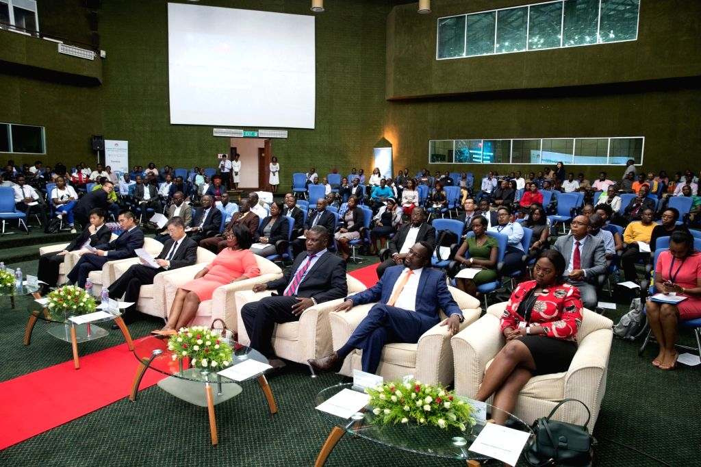 LUSAKA, March 6, 2019 - Photo taken on March 5, 2019 shows a scene of the Huawei ICT competition awarding ceremony in Lusaka, capital of Zambia. A senior Zambia government official on Tuesday awarded ...