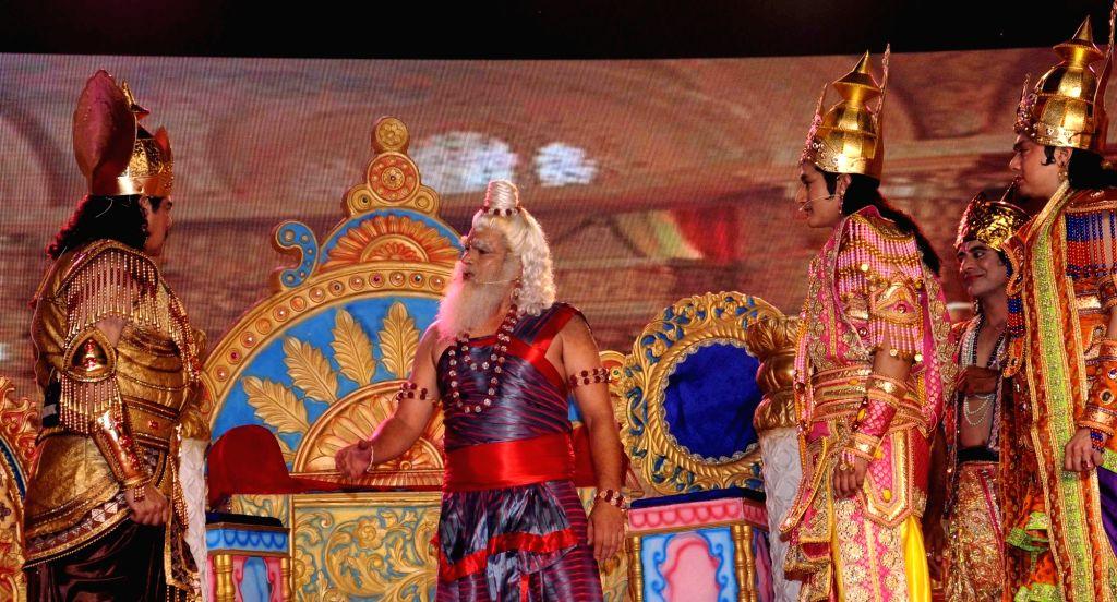 Luv Kush Ramlila underway in New Delhi on Oct 2, 2016.