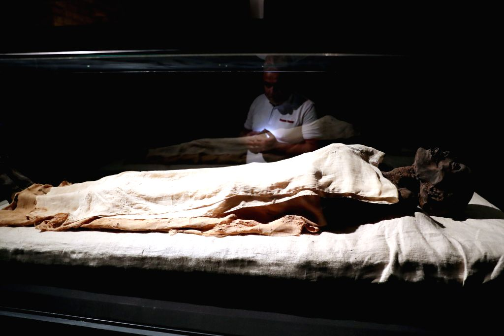 LUXOR (EGYPT), Sept. 11, 2019 A mummy is displayed in Luxor Museum in Luxor, Egypt, on Sept. 8, 2019. The two-floor Luxor Museum overlooking the east bank of the Nile River in the heart ...
