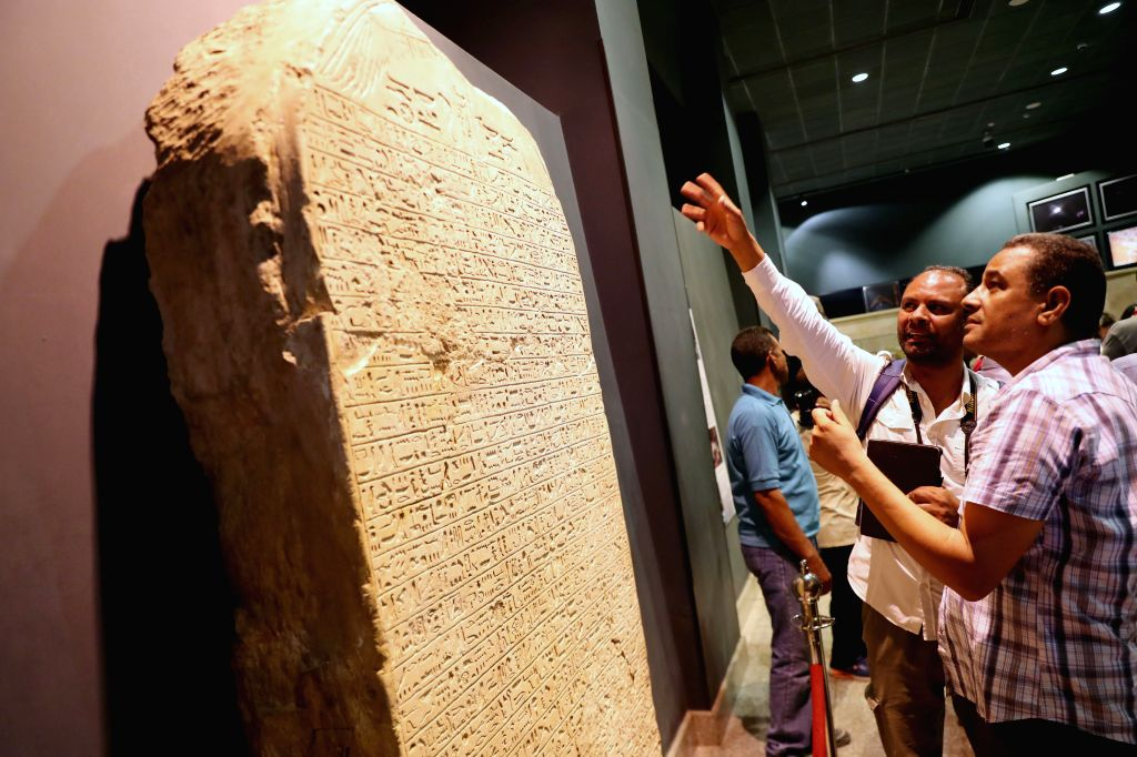 LUXOR (EGYPT), Sept. 11, 2019 People visit Luxor Museum in Luxor, Egypt, on Sept. 8, 2019. The two-floor Luxor Museum overlooking the east bank of the Nile River in the heart of Upper ...