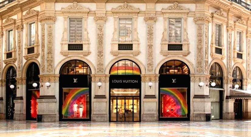 Luxury brands makes 'Rainbow' symbol of hope.