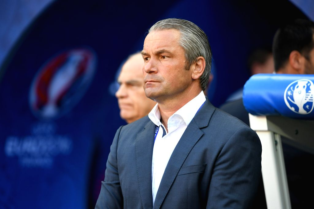 LYON, June 23, 2016 - Bernd Storck, head coach of Hungary poses before the Euro 2016 Group F soccer match between Portugal and Hungary in Lyon, France, June 22, 2016.