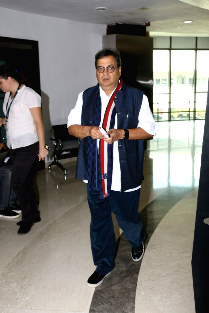 Lyricist and filmmaker  Subhash Ghai during the interaction session with students to share the art of song writing at Whistling Woods International in Mumbai, on March 23, 2017.