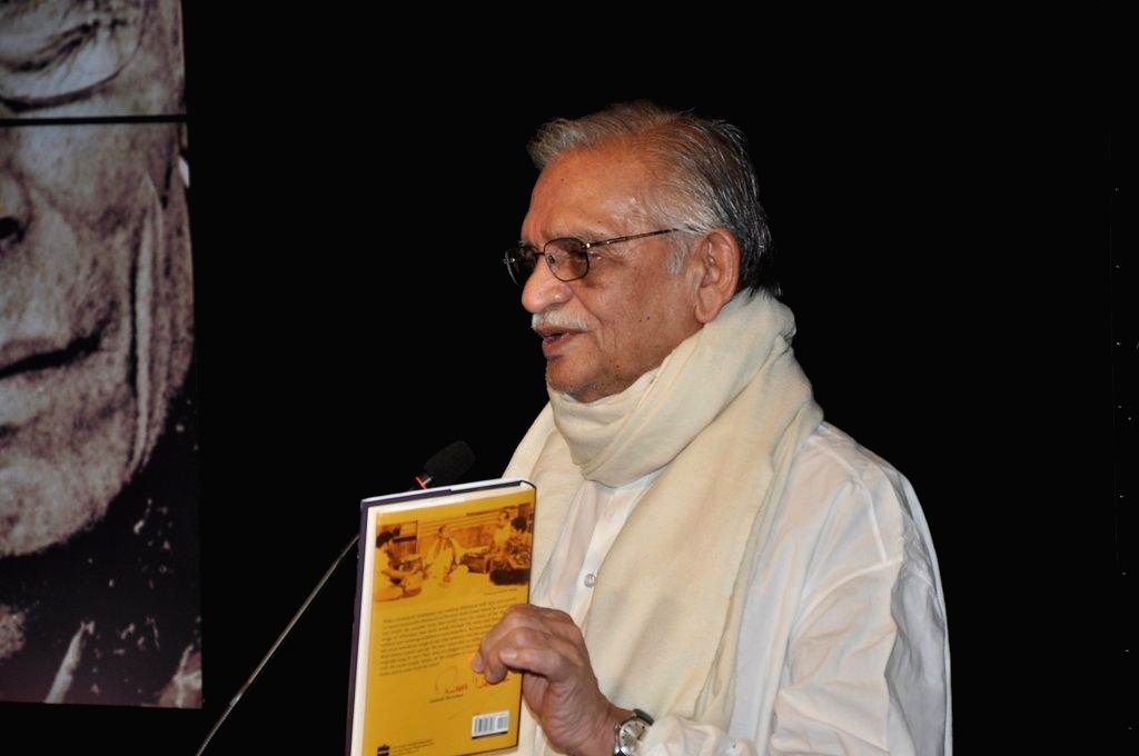 Lyricist Gulzar during the book launch `Sun Mere Bandhu Re-The Musical World of S D Burman` by Sathya Saran in Mumbai, on August 8, 2014.