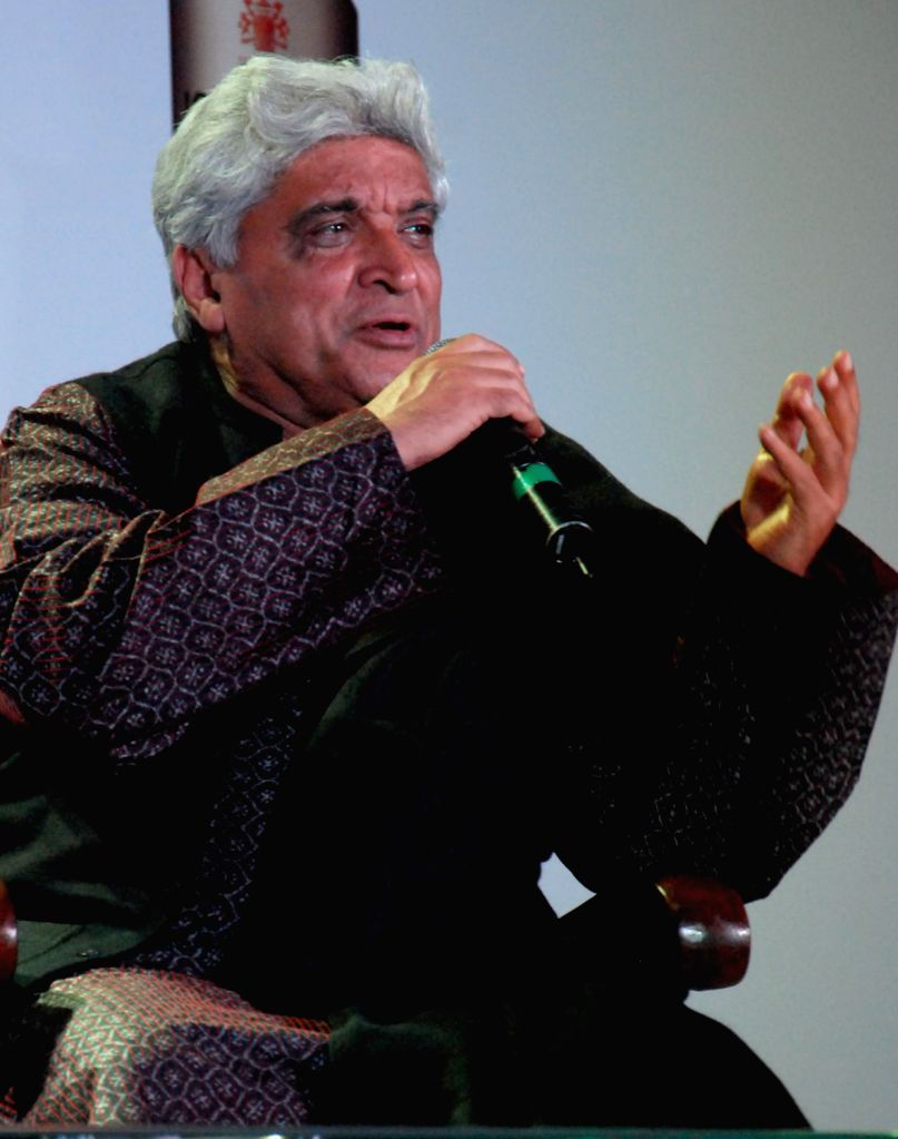 Lyricist Javed Akhtar at a programme during 37th International Kolkata Book Fair at Kolkata on Jan. 31. - Javed Akhtar