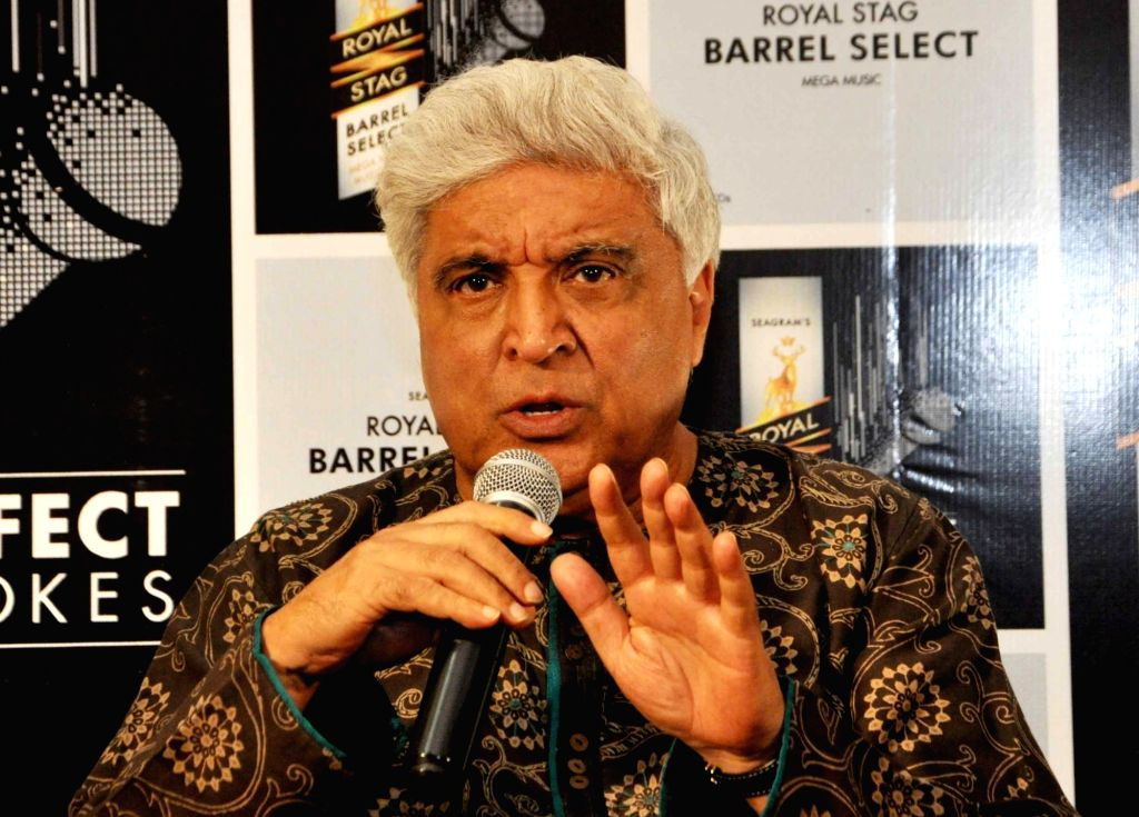 Lyricist Javed Akhtar during a promotional programme in Kolkata on Nov 25, 2016. - Javed Akhtar