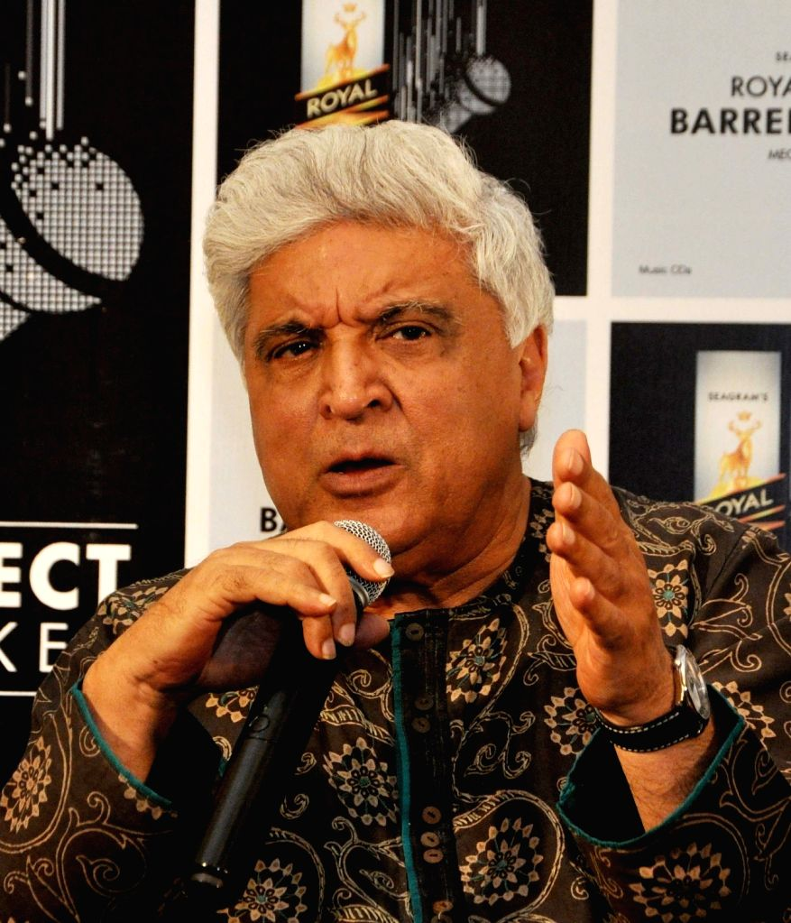 Lyricist Javed Akhtar during a promotional programme in Kolkata on Nov 25, 2016. - Javed Akhtar