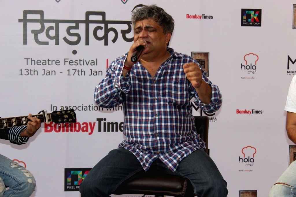 Lyricist Swanand Kirkire during the inauguration of `Khidkiyaan`- Theatre Festival 2016, in Mumbai on Jan 13, 2016.
