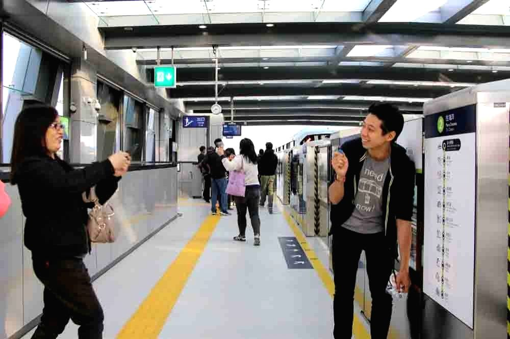Macau's first light rail officially starts operating.