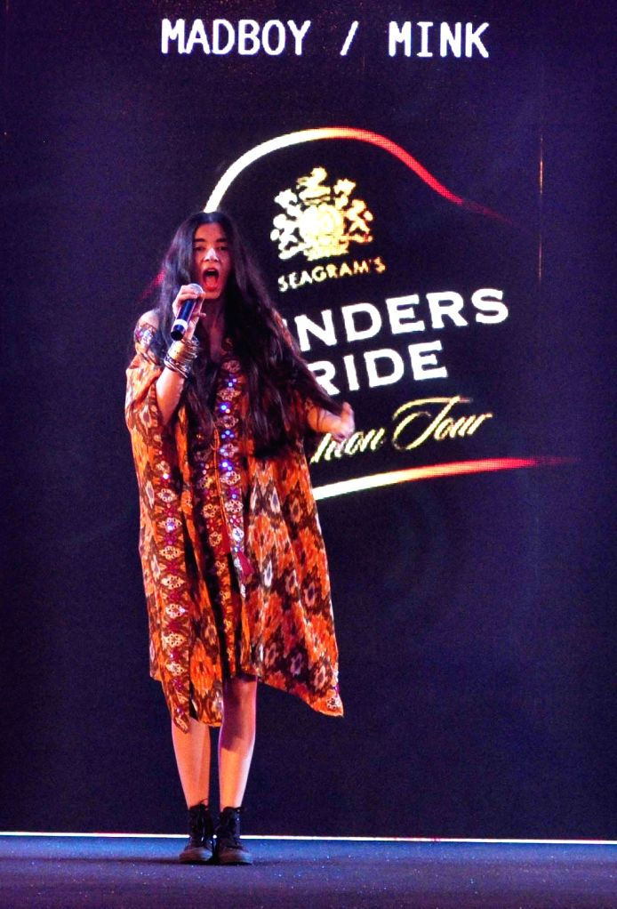 Madboy Mink performs during Blenders Pride Fashion Tour 2016 in Kolkata on Nov 26, 2016.