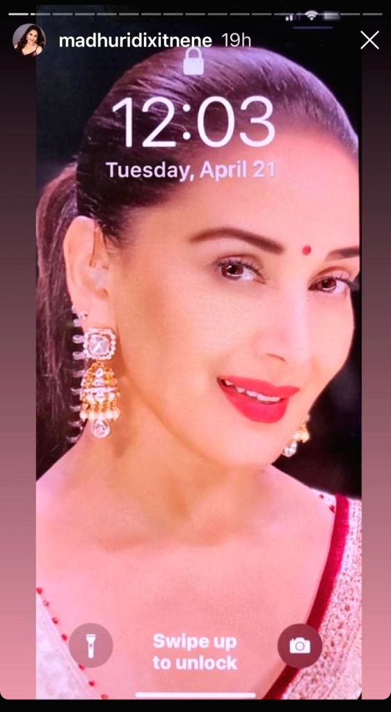 Madhuri Dixit-Nene shares what's on her phone. - Madhuri Dixit