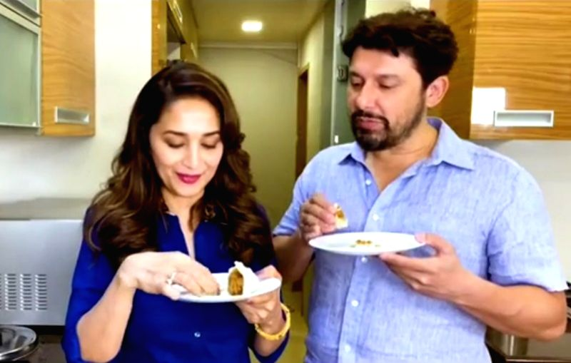 Madhuri Dixit shares family recipe of modak during Ganpati festivity. - Madhuri Dixit