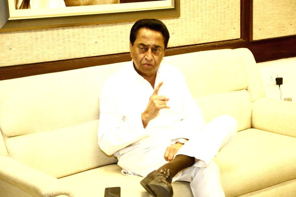 Madhya Pradesh Chief Minister Kamal Nath during an exclusive interview with IANS in Bhopal. - Kamal Nath