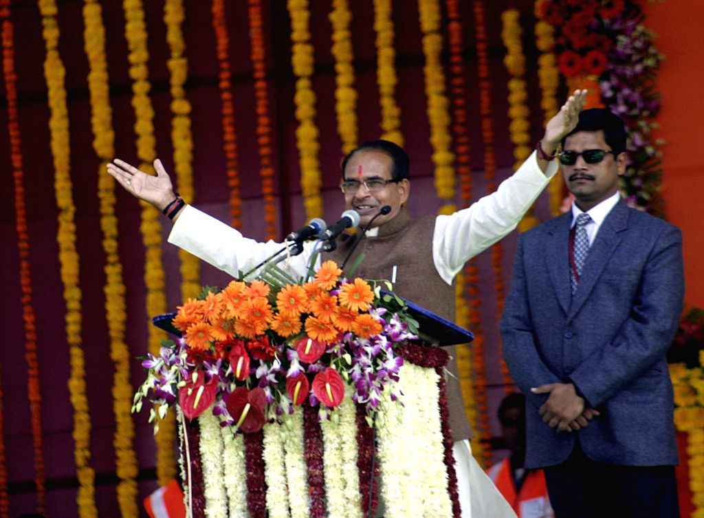 Madhya Pradesh Chief Minister Shivraj Singh Chouhan during his swearing-in ceremony in Bhopal on Dec. 14, 2013.