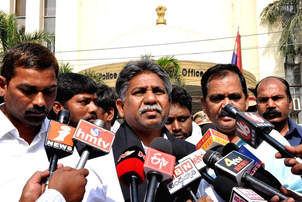 52a77148ebe9 Manda Krishna Madiga talks to press