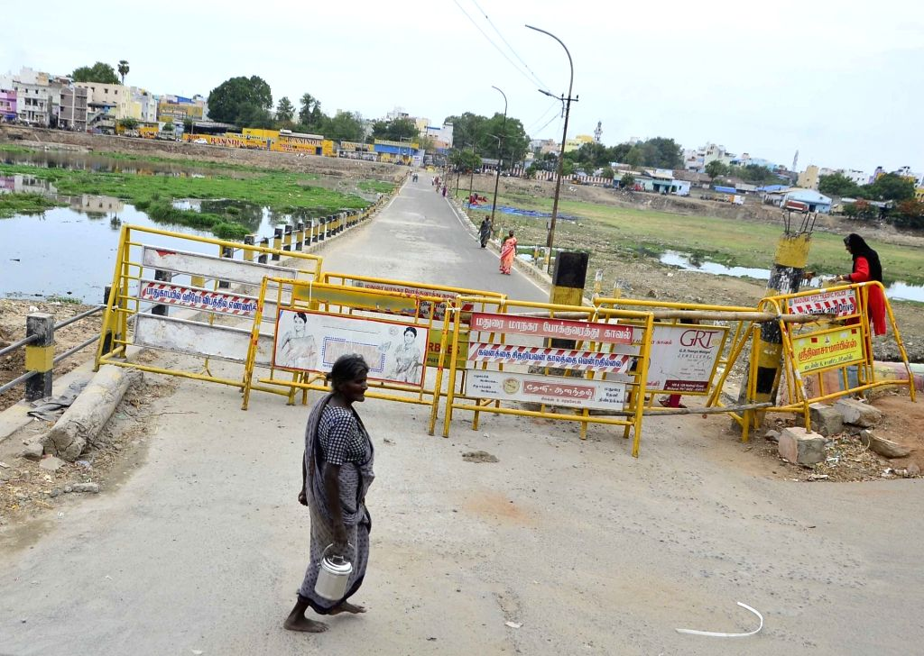 Madurai bears a deserted look after the Tamil Nadu government announced that lockdown in the city will be extended till midnight on July 14 in the wake of rising cases of CVID-19, on July ...