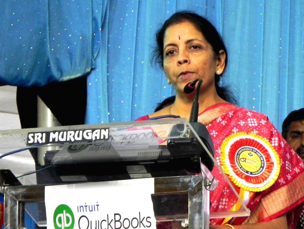 The Minister of State for Commerce and Industry (Independent Charge) Nirmala Sitharaman addresses at the 46th Regional Conference of ICAI, in Madurai on Dec 13, 2014.
