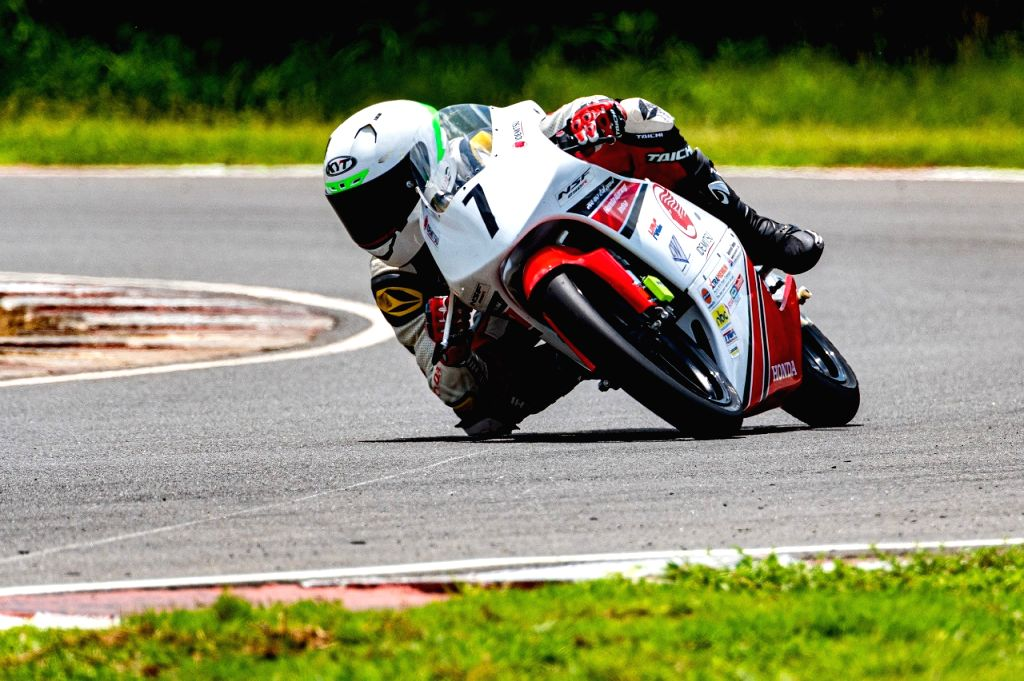 Magical Mikail clockes the fastest time at MMRT in the IDEMITSU Honda Talent Cup NSF250R category.