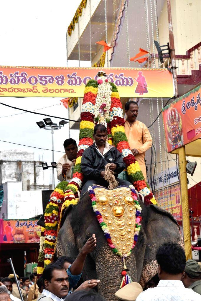 Mahankali Bonalu celebrations underway in Hyderabad on Aug 1, 2016.