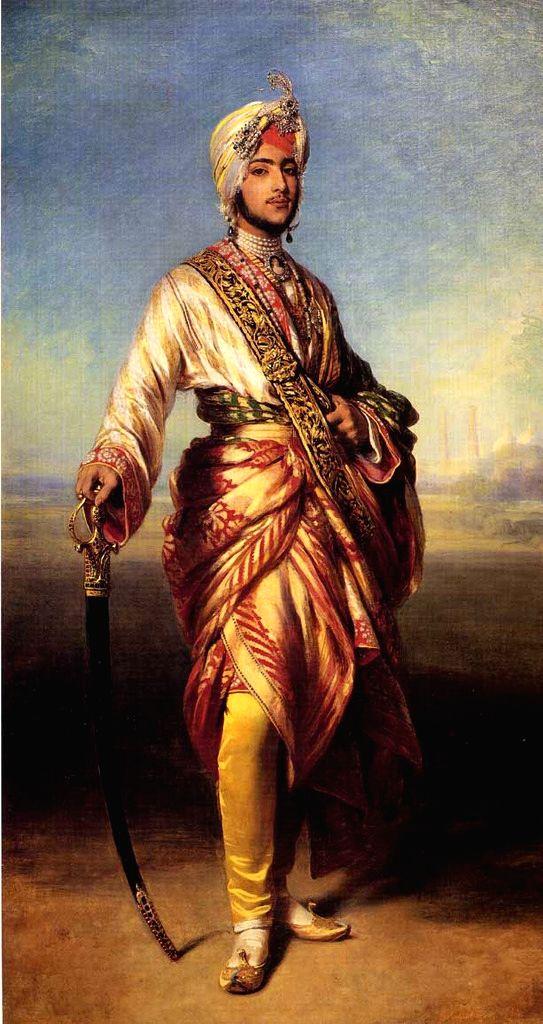 Maharaja Duleep Singh's painting by British court artist Winterhalter - Winterhalter and Duleep Singh