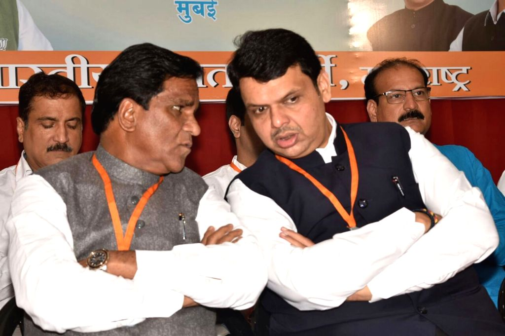 Maharashtra Chief Minister and BJP leader Devendra Fadnavis during a party working committee meeting in Mumbai on Oct 5, 2016.