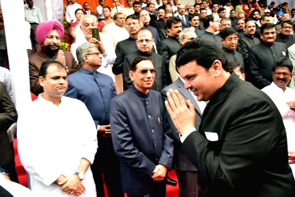 Maharashtra Chief Minister Devendra Fadnavis during Independence Day celebrations in Mumbai on Aug 15, 2016. - Devendra Fadnavis