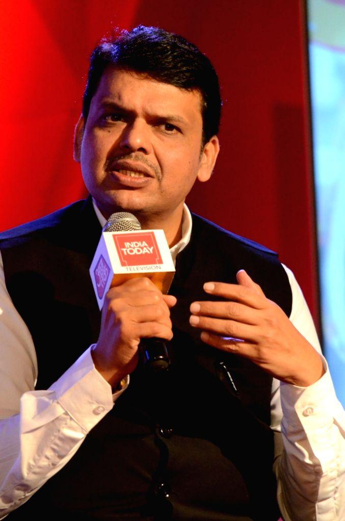 "Maharashtra Chief Minister Devendra Fadnavis during ""Mumbai Manthan"" organised by Aaj Tak in Mumbai on Oct 22, 2016. - Devendra Fadnavis"