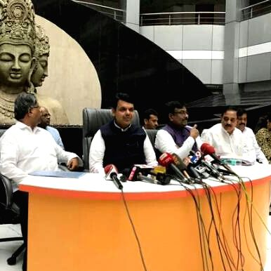 Maharashtra Chief Minister Devendra Fadnavis addresses a press conference in Mumbai on June 24, 2017. He announced a farm loan waiver for the state that will benefit over 19 lakh farmers. - Devendra Fadnavis