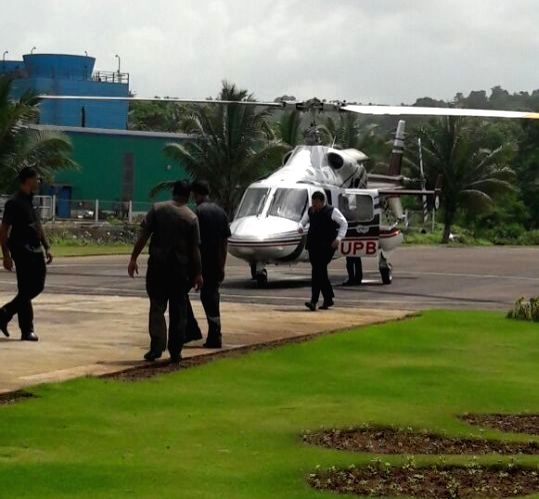 Maharashtra Chief Minister Devendra Fadnavis escaped a potential accident when his helicopter suddenly took off as he was boarding it at a helipad in Alibaug of Maharashtra's Raigad on July ... - Devendra Fadnavis