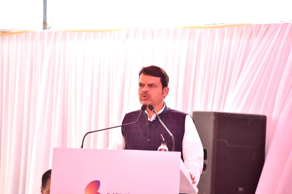 Maharashtra Chief Minister Devendra Fadnavis addresses during the foundation stone laying ceremony for the proposed India Jewellery Park (IJP) in Navi Mumbai on March 5, 2019. - Devendra Fadnavis