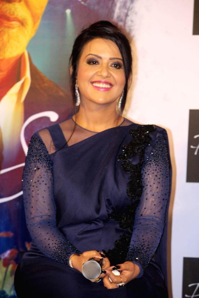 Maharashtra Chief Minister Devendra Fadnavis's wife Amruta Fadnavis during the song launch Phir Se in Mumbai, on May 30, 2017. - Devendra Fadnavi