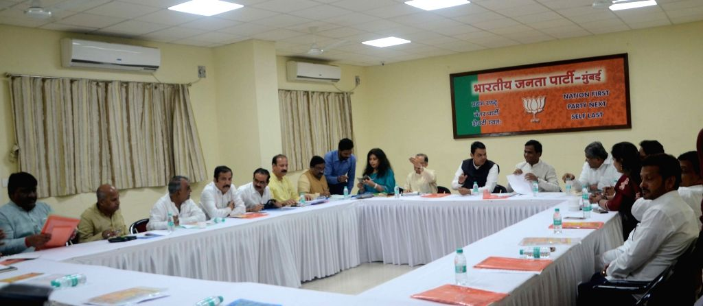 Maharashtra Chief Minister Minister and BJP leader Devendra Fadnavis attends a party workers meeting in Mumbai on Aug 16, 2017. - Minister