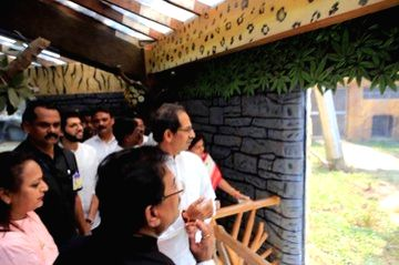 Maharashtra Chief Minister Uddhav Thackeray inaugurated the country's first and biggest 'walk-through' aviary at the Veermata Jijabai Bhosale Udyan and Zoo, as part of the Republic Day festivities, here on Sunday. - Uddhav Thackeray
