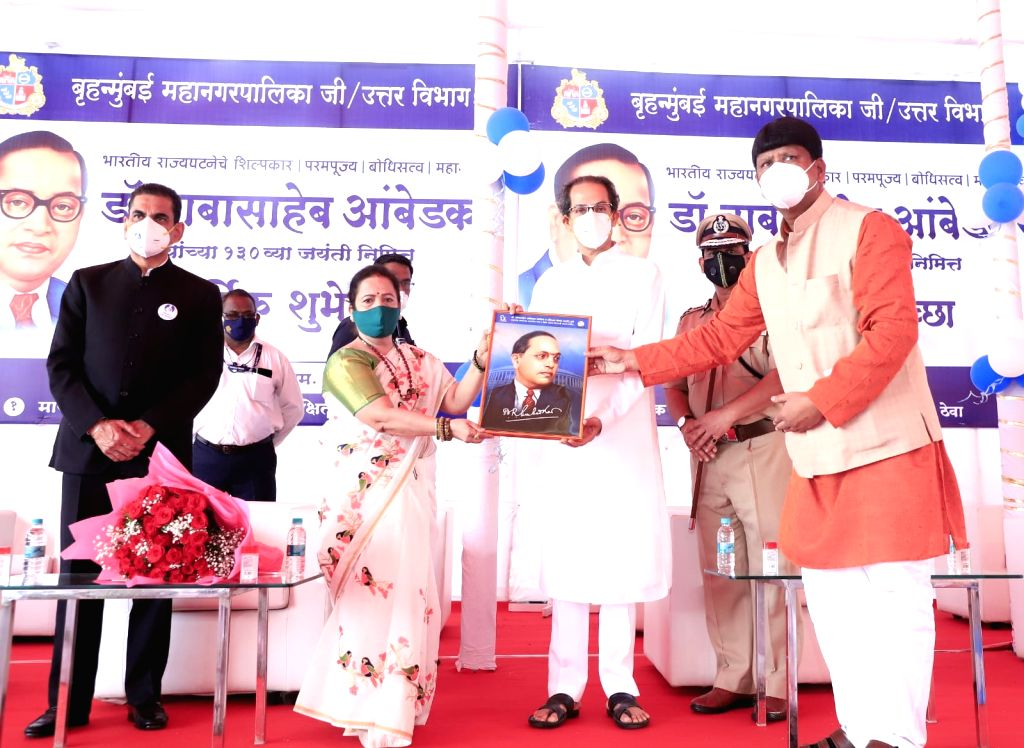 Maharashtra CM UDDHAV THACKERAY paid homage to the Architect of Indian Constitution, Dr. B. R. Ambedkar, on his 130th birth anniversary, at Chaityabhoomi, Dadar on 14 April, 2021.