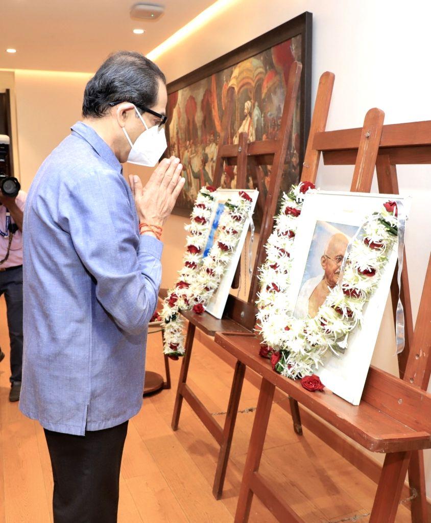 Maharashtra CM UDDHAV THACKERAY paid respects to the Father of the Nation Mahatma Gandhi on his birth anniversary being celebrated today. - Mahatma Gandhi