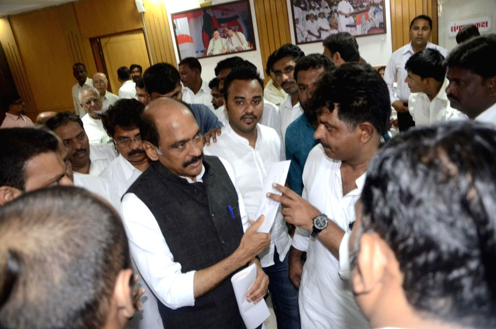 Maharashtra Congress chief Manikrao Thakre during a party meeting in Mumbai on Aug 19, 2014.