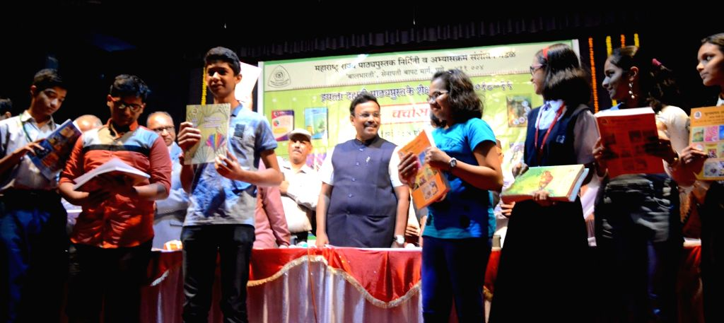 Maharashtra Education Minister Vinod Tawde during a programme organised to launch the new textbooks of the state board's Secondary School Certificate (SSC), in Mumbai on April 4, 2018. - Vinod Tawde