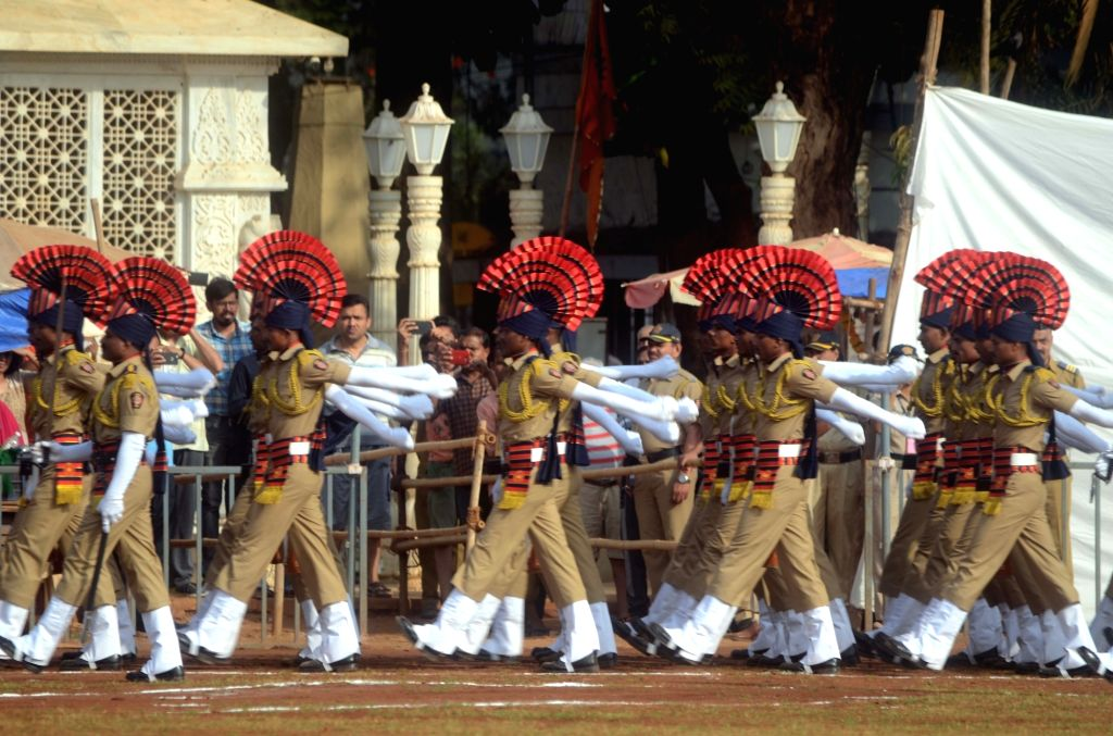 Maharashtra Foundation day parade underway at Shivaji Park, in Mumbai's Dadar, on May 1, 2019.
