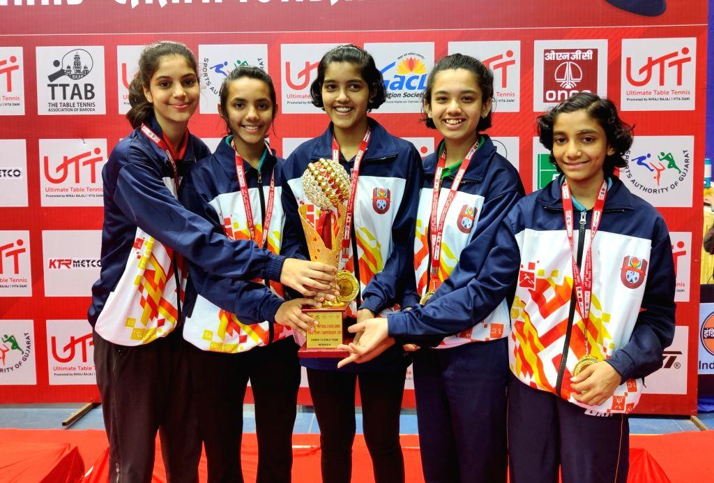 Maharashtra Girls win the U14 UTT 65th Nationals School Games title on Thursday.