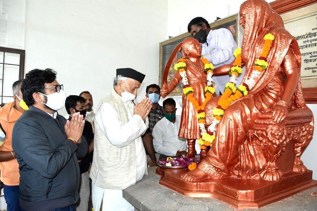 Maharashtra Governor Bhagat Singh Koshyari, took an unprecedented trek to the Shivneri For, 3.500-feet high, the birthplace of Chhatrapati Shivaji Maharaj, in Pune. - Bhagat Singh Koshyari