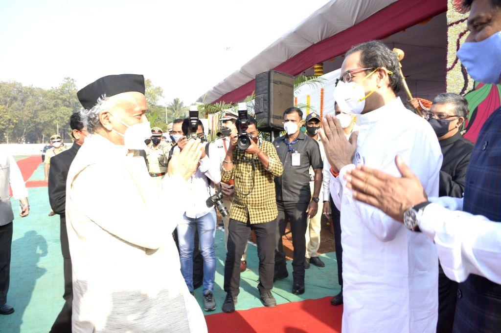 Maharashtra governor Bhagat Singh Koshyari unfurls the National Flag and addresses on Republic Day at Shivaji Park. - Bhagat Singh Koshyari